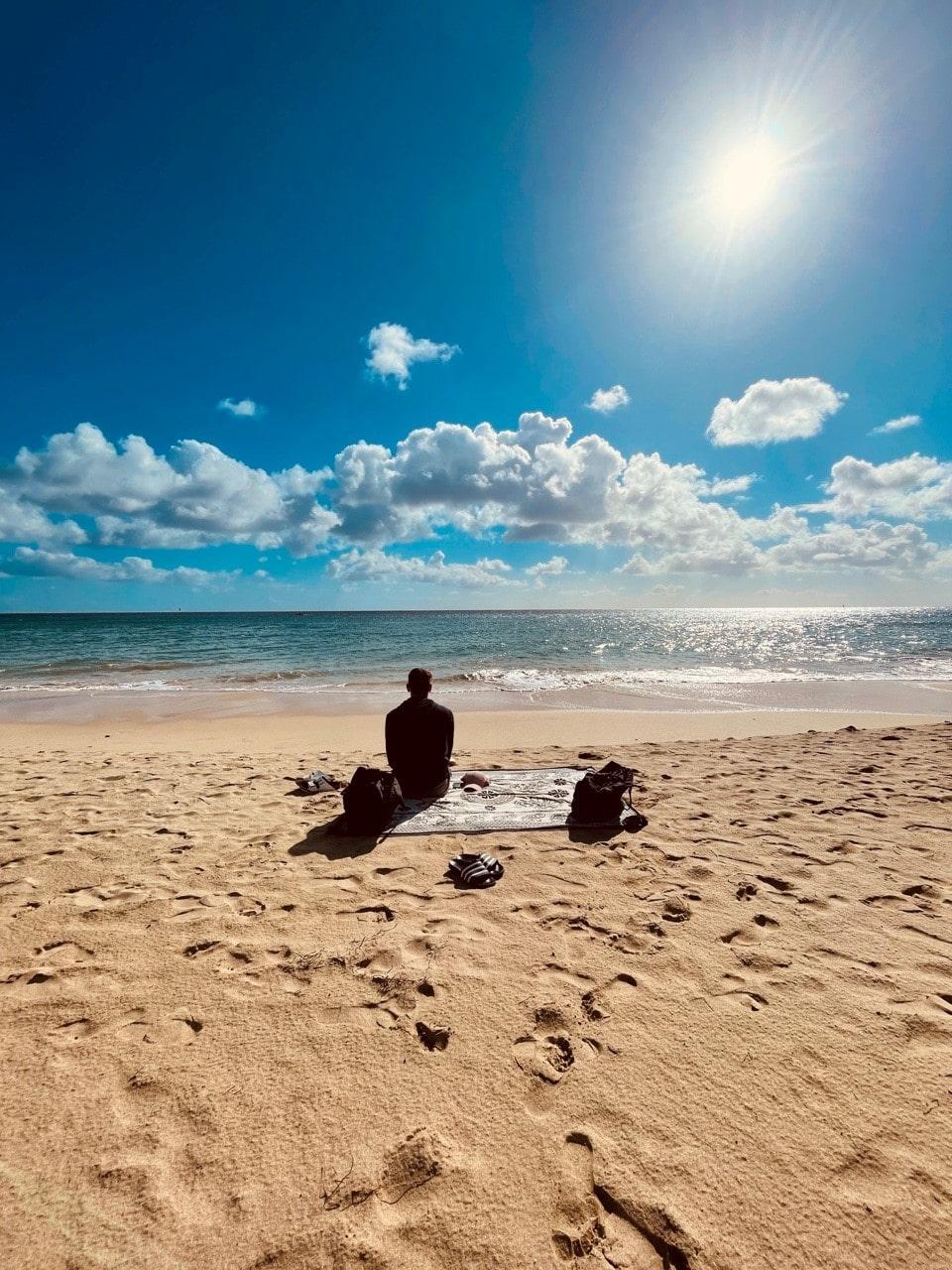 Fuerteventura, Mann am Strand