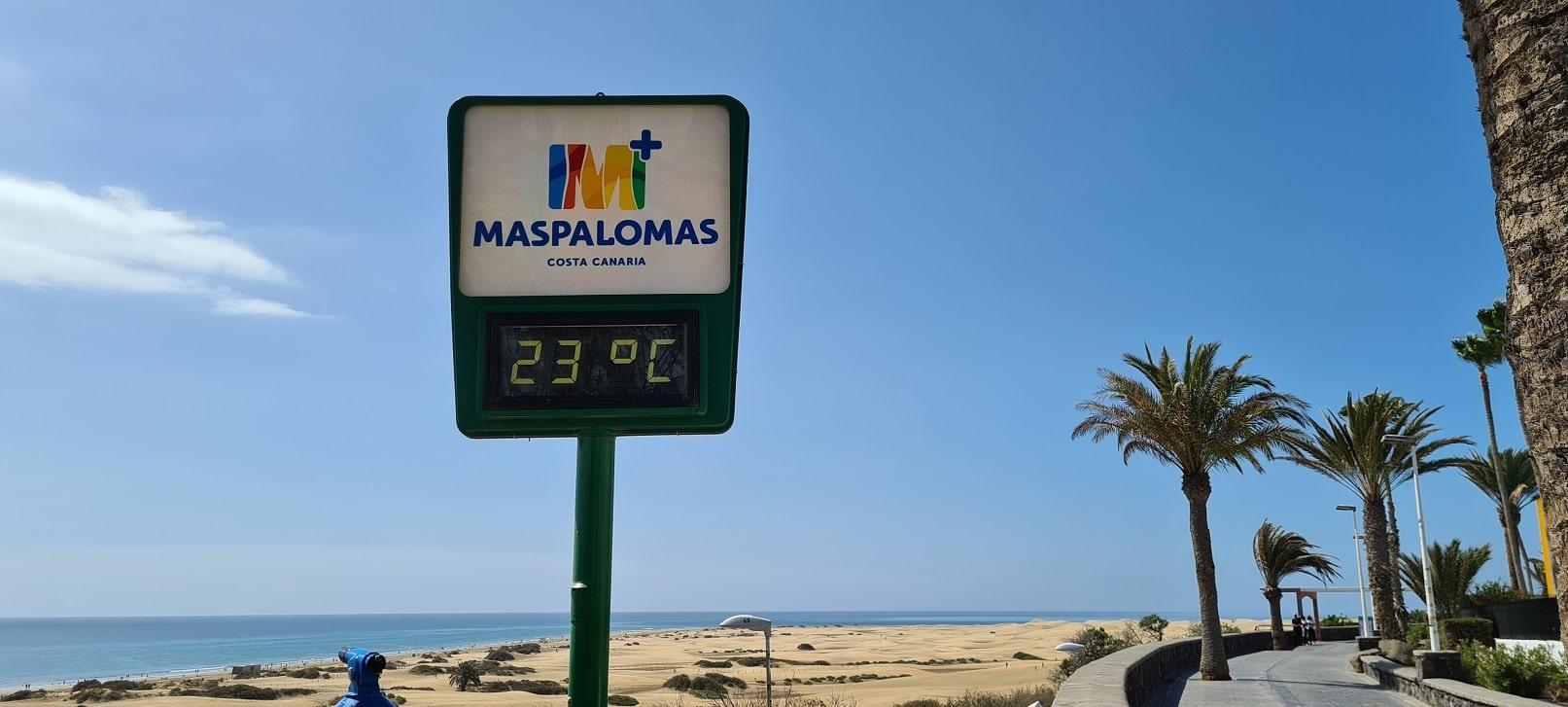 Gran Canaria - 23 Grad Temperatur
